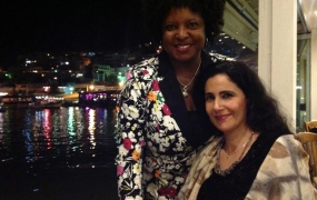 With Poet Amal Al-Jubouri