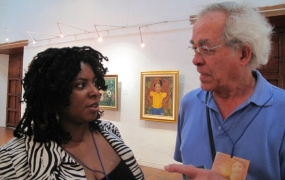 With poet from Haiti