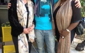 with Italian poet Lello Voce and Iraqui poet Amal
